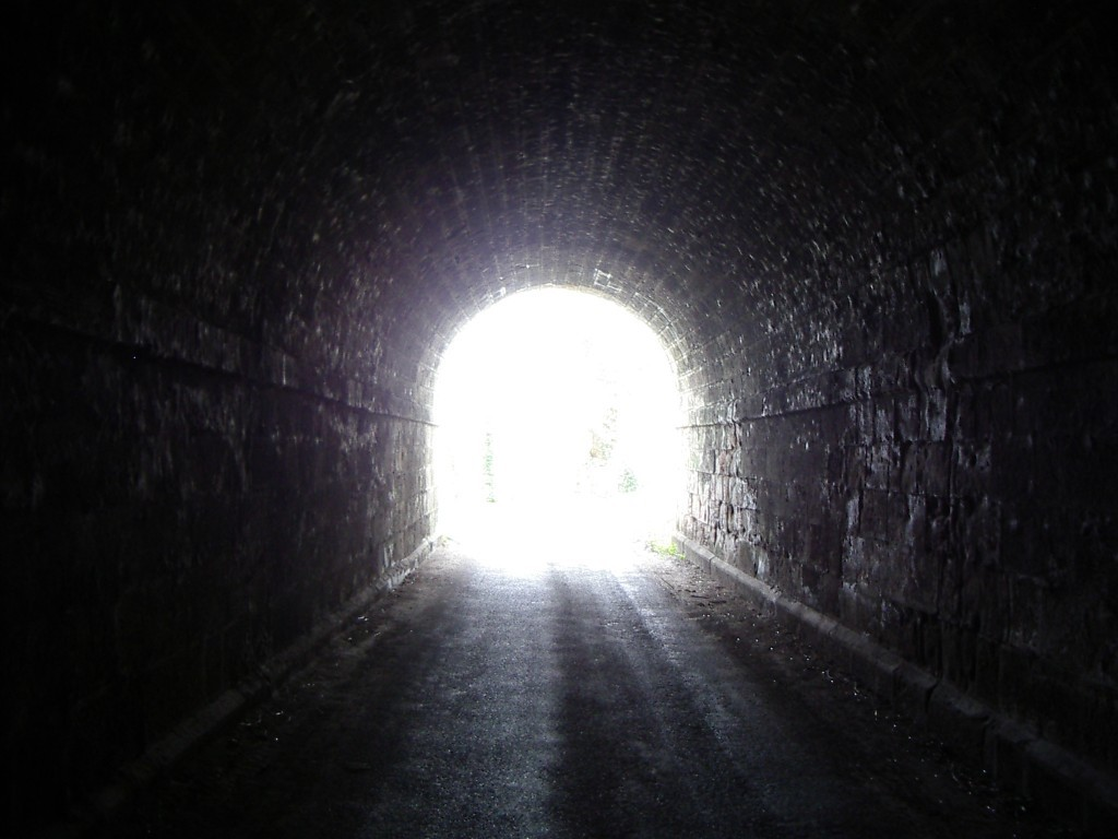 light end of tunnel