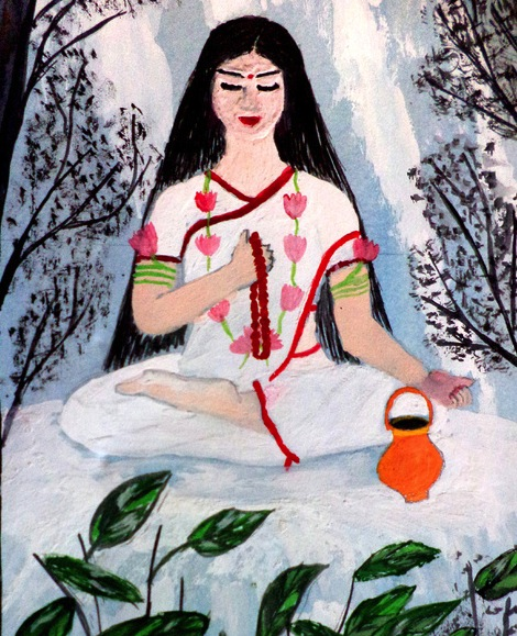 brahmacarini meditating